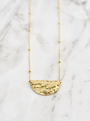 Havanna Half Circle Necklace / Gold - Cloth + Cabin
