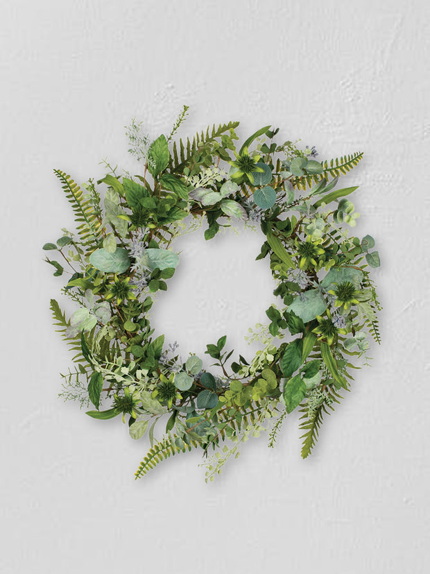 Faux Herbal Wreath - Cloth + Cabin