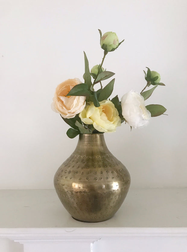 Antique Brass Vase - Cloth + Cabin