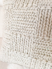 Ellen Chunky Knit Wool Pillow - Cloth + Cabin