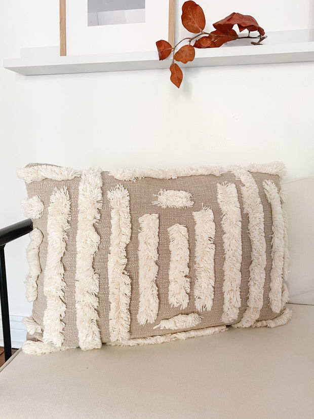 Payton Woven Tufted Lumbar Pillow