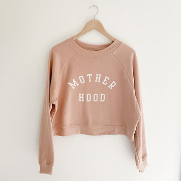 Mother Hood Cropped Sweatshirt ™ | Sand Dune