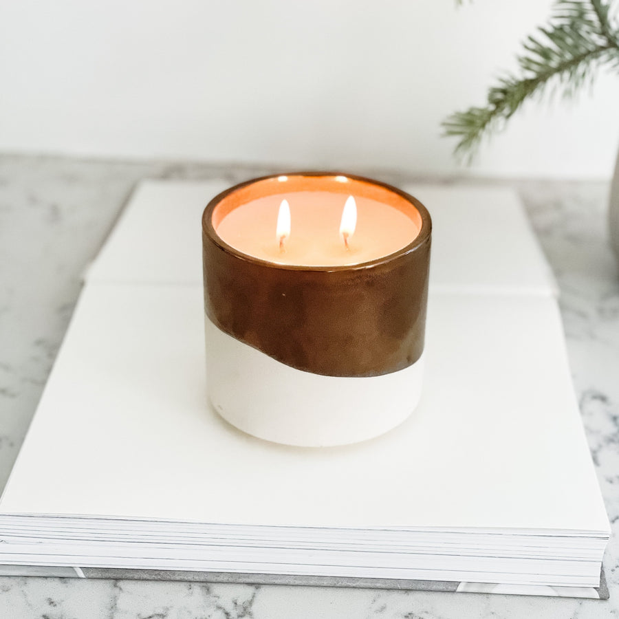 C+C Signature Candle / Cement + Gold 2-Wick