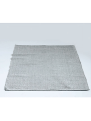 Grey + White Striped Woven Rug - Cloth + Cabin