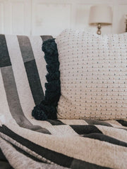 Kay Striped Knit Throw - Cloth + Cabin