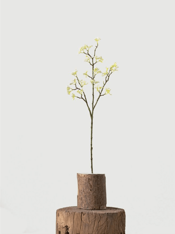 Faux White Blossom Stem - Cloth + Cabin