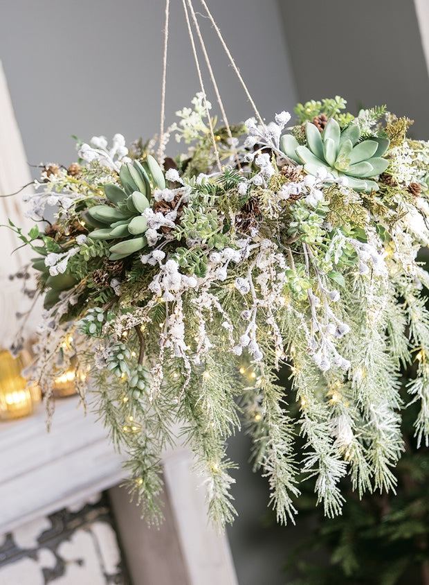 FINAL SALE - Weeping Pine Snowy Wreath - Cloth + Cabin