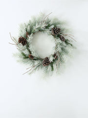 FINAL SALE - Frosted Pine Wreath - Cloth + Cabin