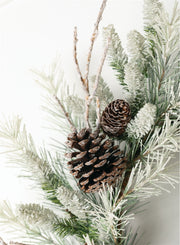 Frosted Pine Wreath - Cloth + Cabin
