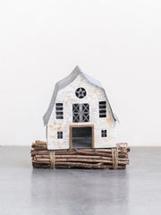 FINAL SALE - White Metal Barn - Cloth + Cabin