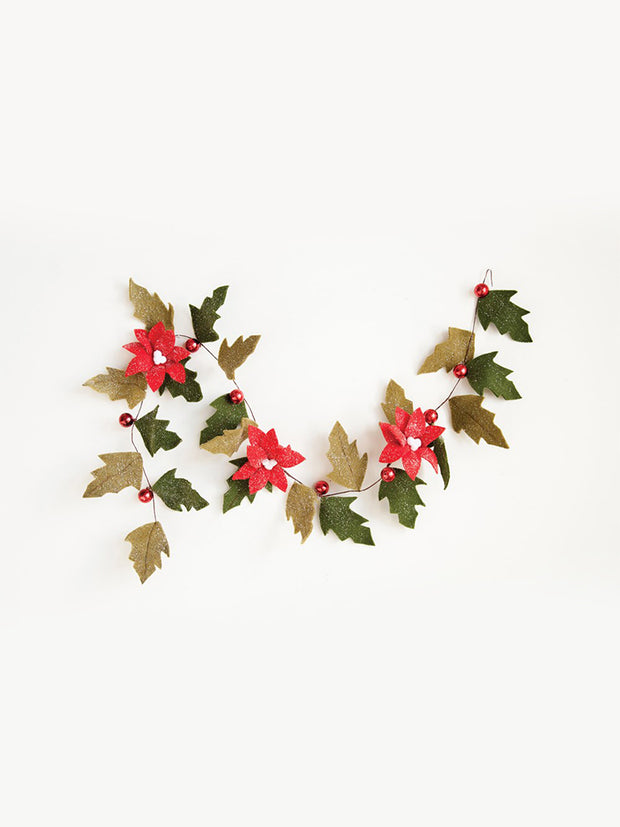 Felt Poinsettia Garland - Cloth + Cabin