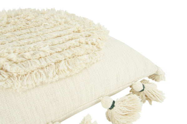 Mel Circle Fringe Tassel Pillow - Cloth + Cabin