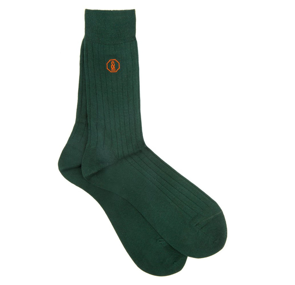 Dark Green & Orange 4 Pair Gift Set