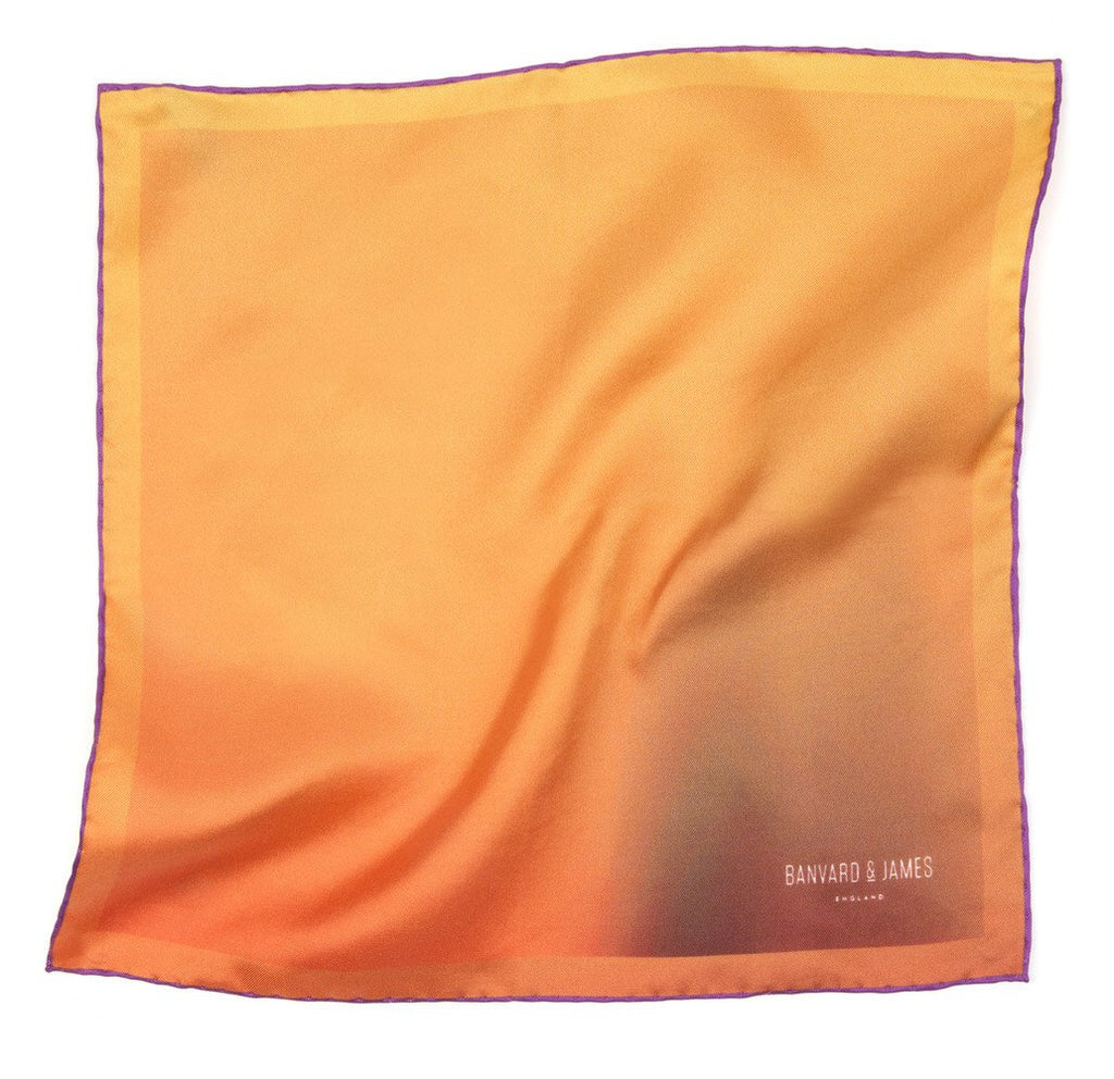 Yellow & Purple Ashwood Pocket Square