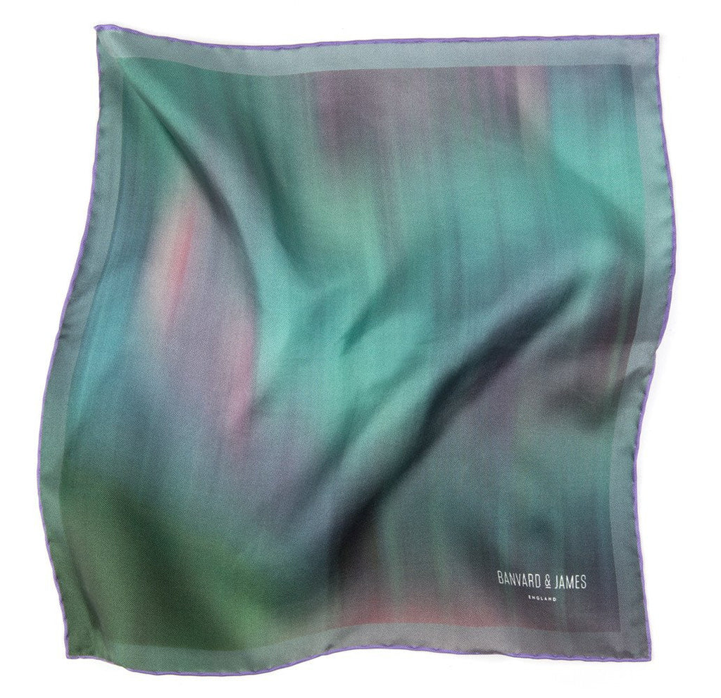 Green & Purple Ashwood Pocket Square