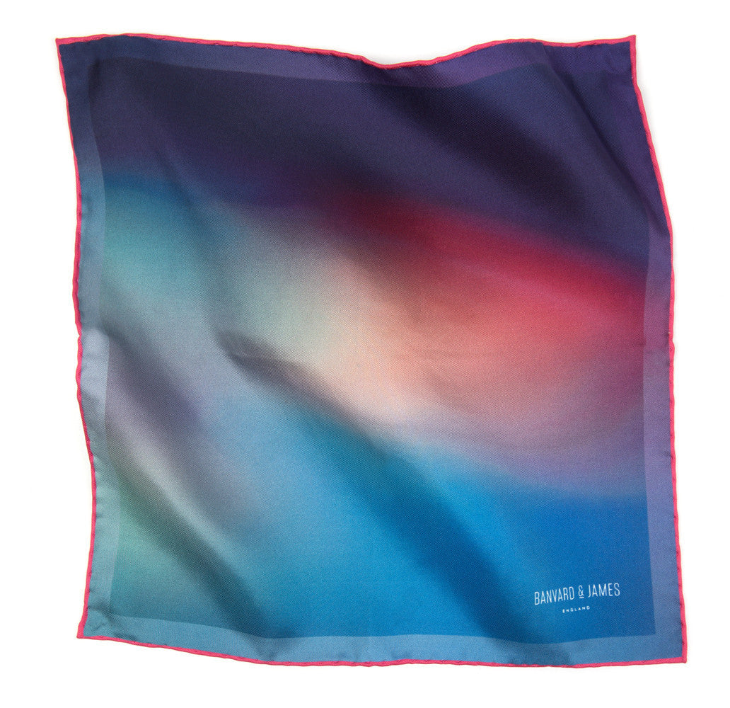 Blue, Purple & Pink Ashwood Pocket Square - Banvard & James