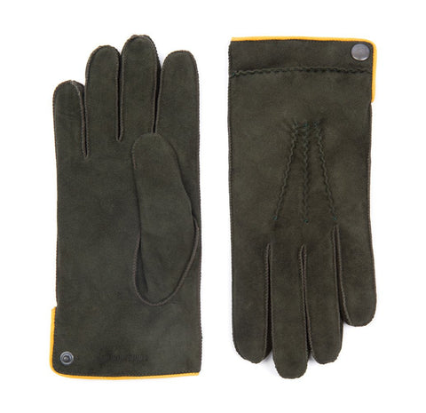 Dark Green Buckland Suede Gloves