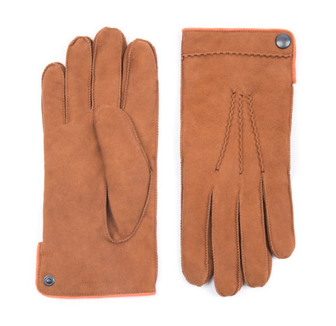 Tan Buckland Suede Gloves