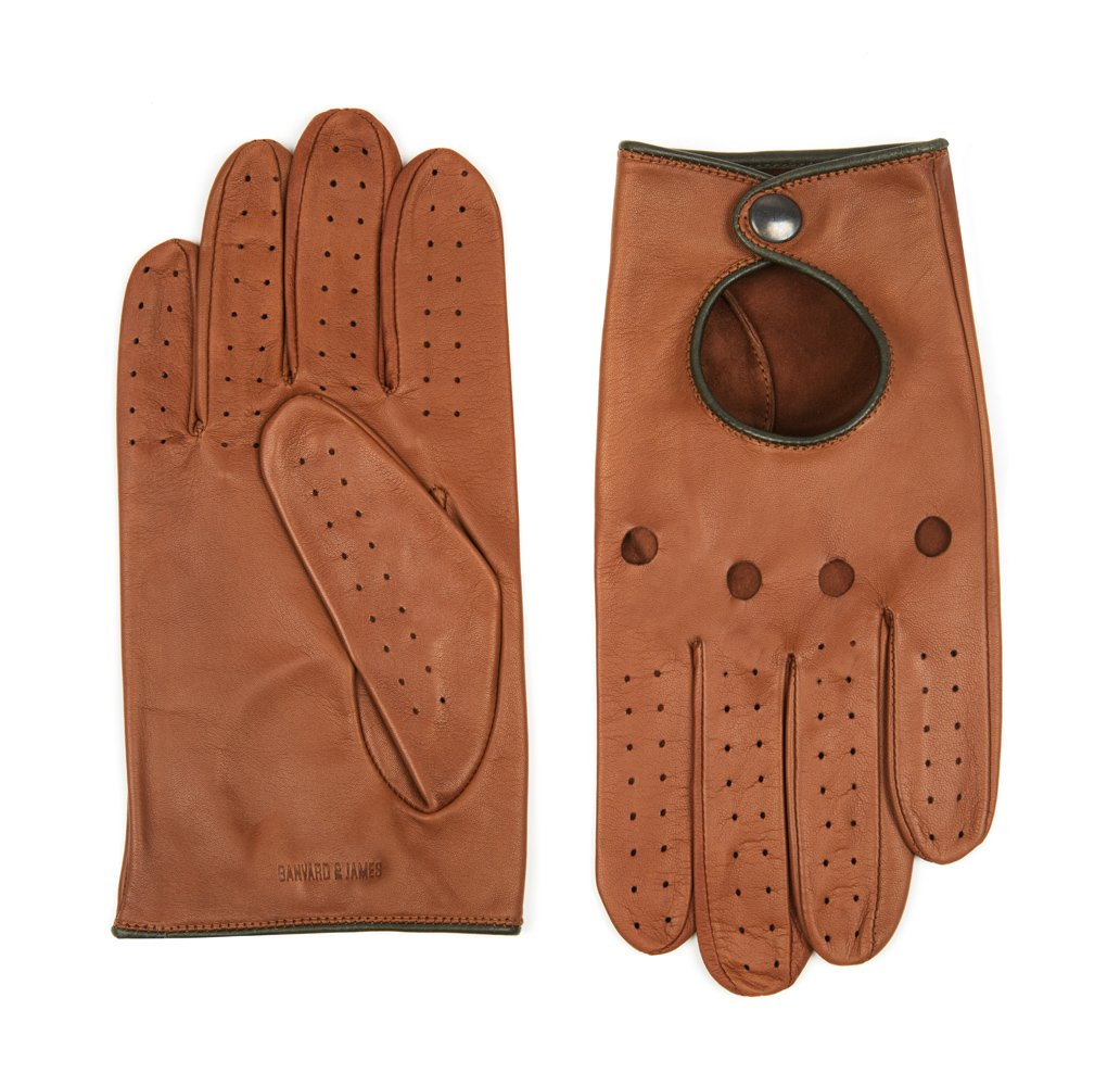 Tan Furness Leather Driving Gloves