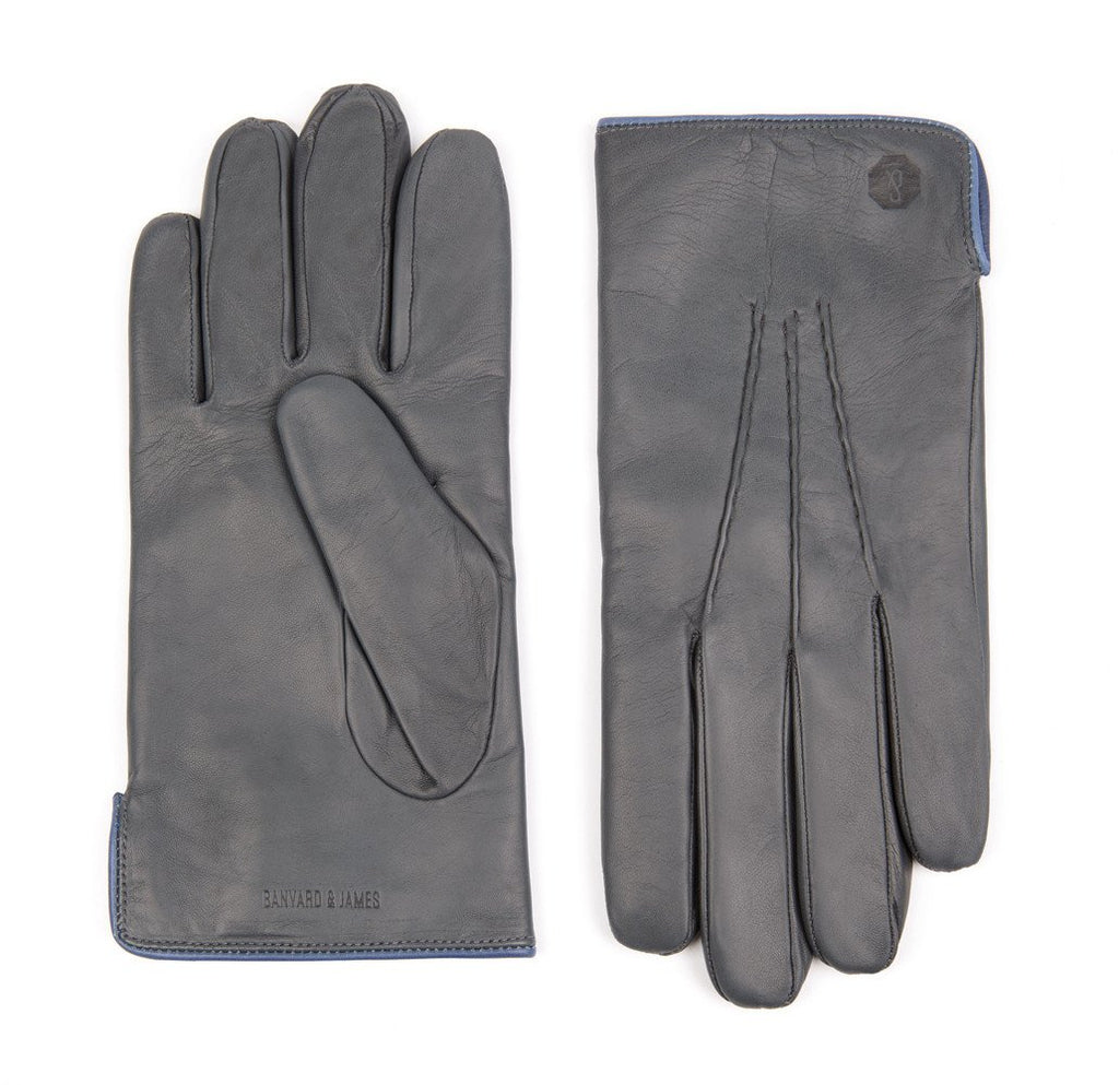 Grey Morton Leather Gloves