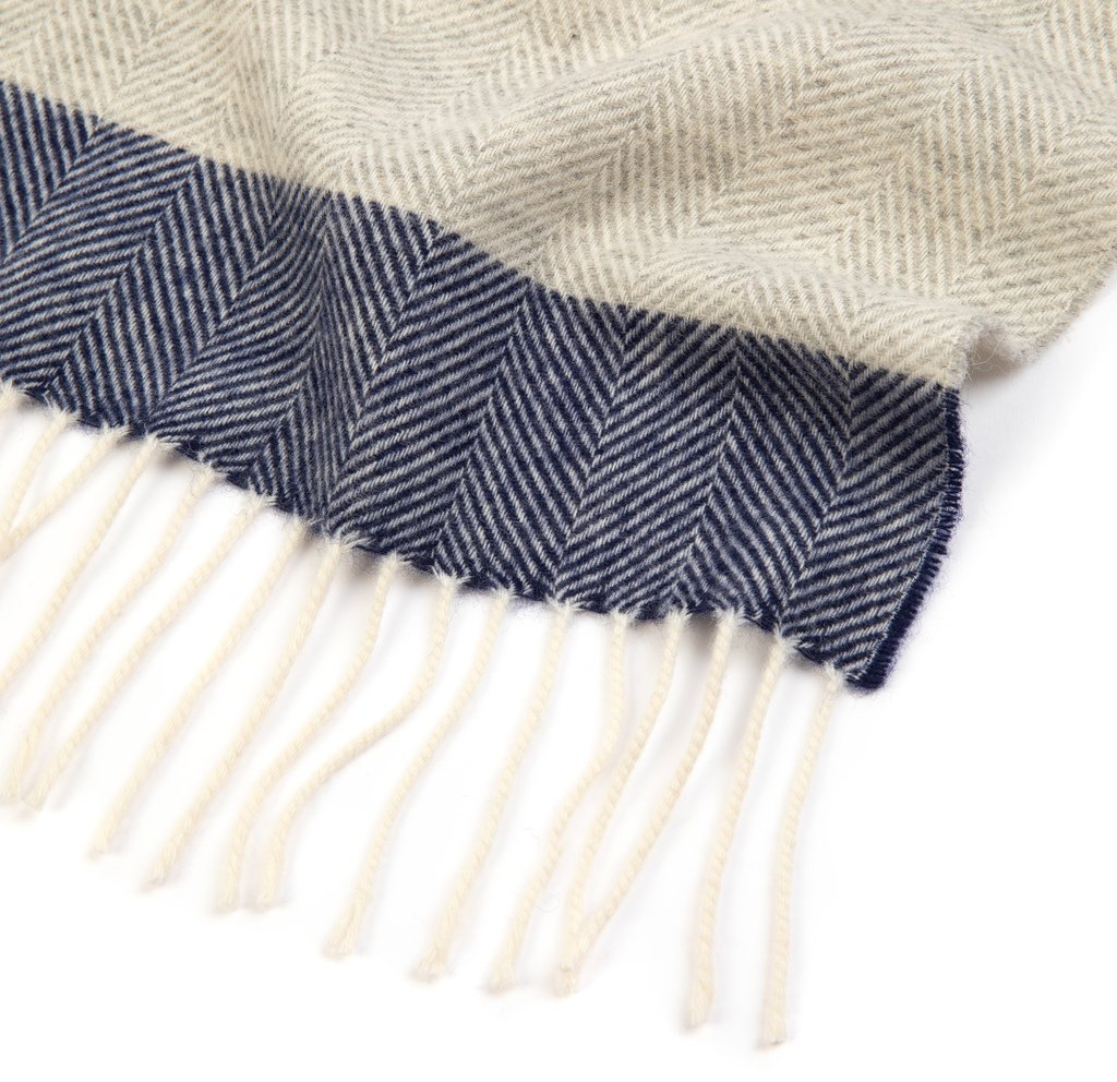 NEW Pale Grey Lambswool Bentham Scarf