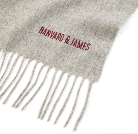 NEW Pale Grey Lambswool Keating Scarf