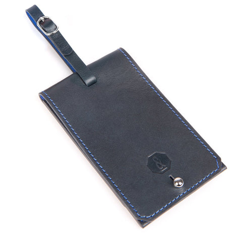Navy Blakeney Luggage Tag