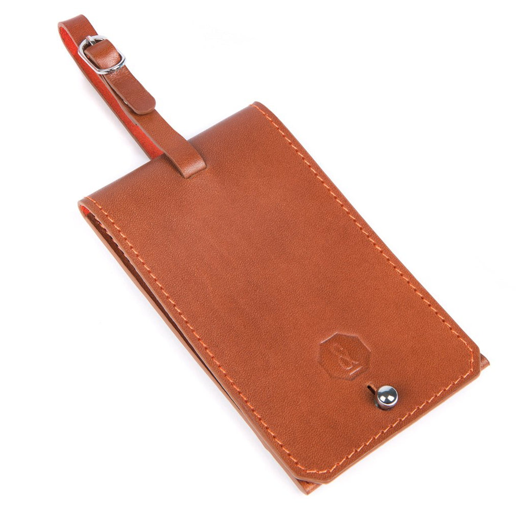 Tan Blakeney Luggage Tag