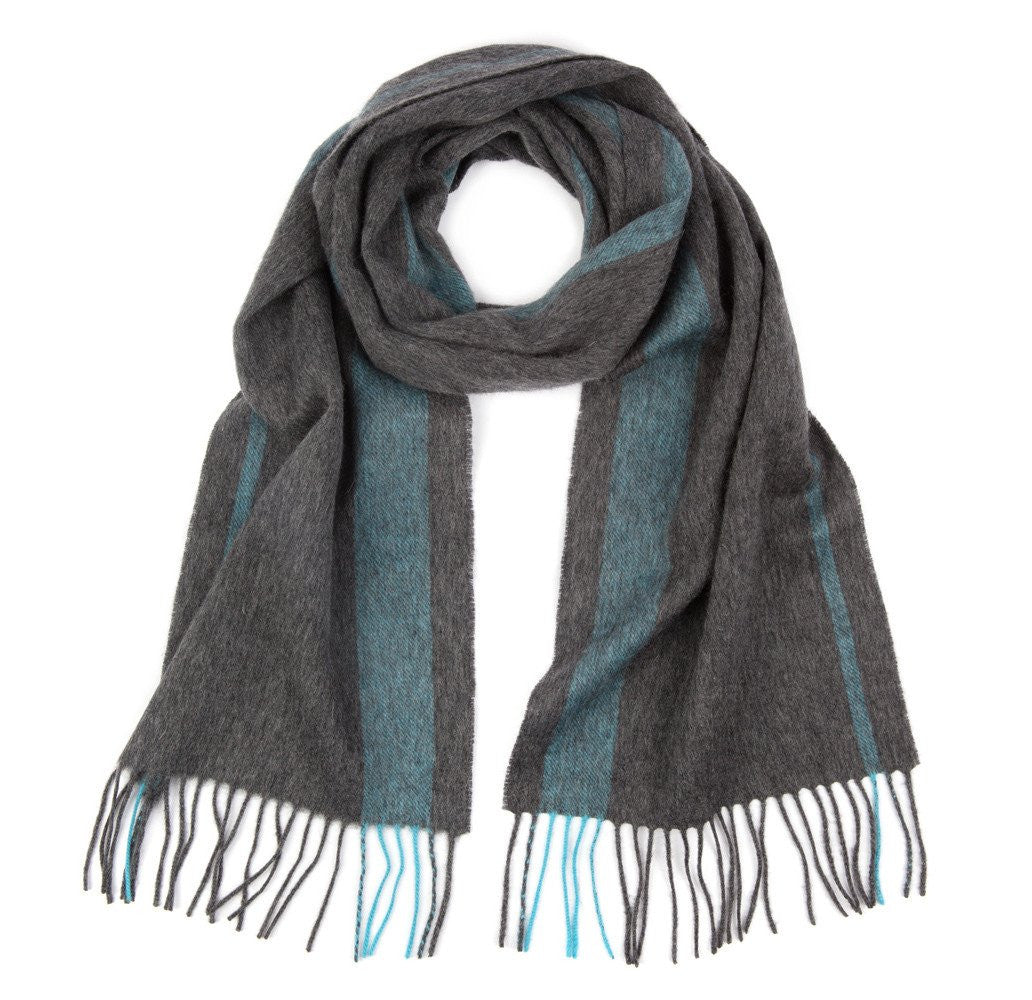 Grey & Blue Tetbury Scarf