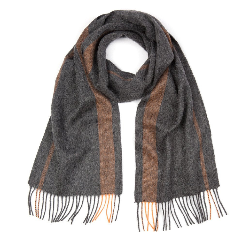 Grey & Orange Tetbury Scarf
