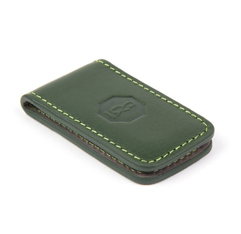 Dark Green Bartlett Money Clip