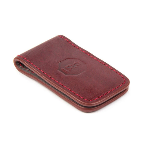 Burgundy Bartlett Money Clip