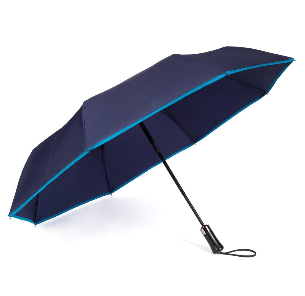 Navy Roscoe Telescopic Umbrella