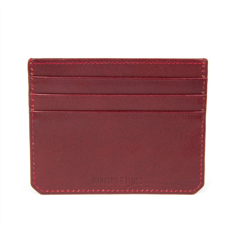 Burgundy Notley Card Holder