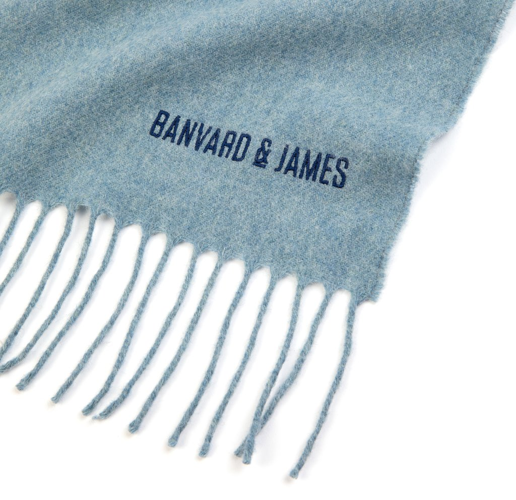 Pale Blue Lambswool Keating Scarf