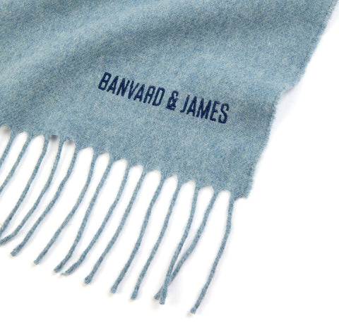 NEW Pale Blue Lambswool Keating Scarf
