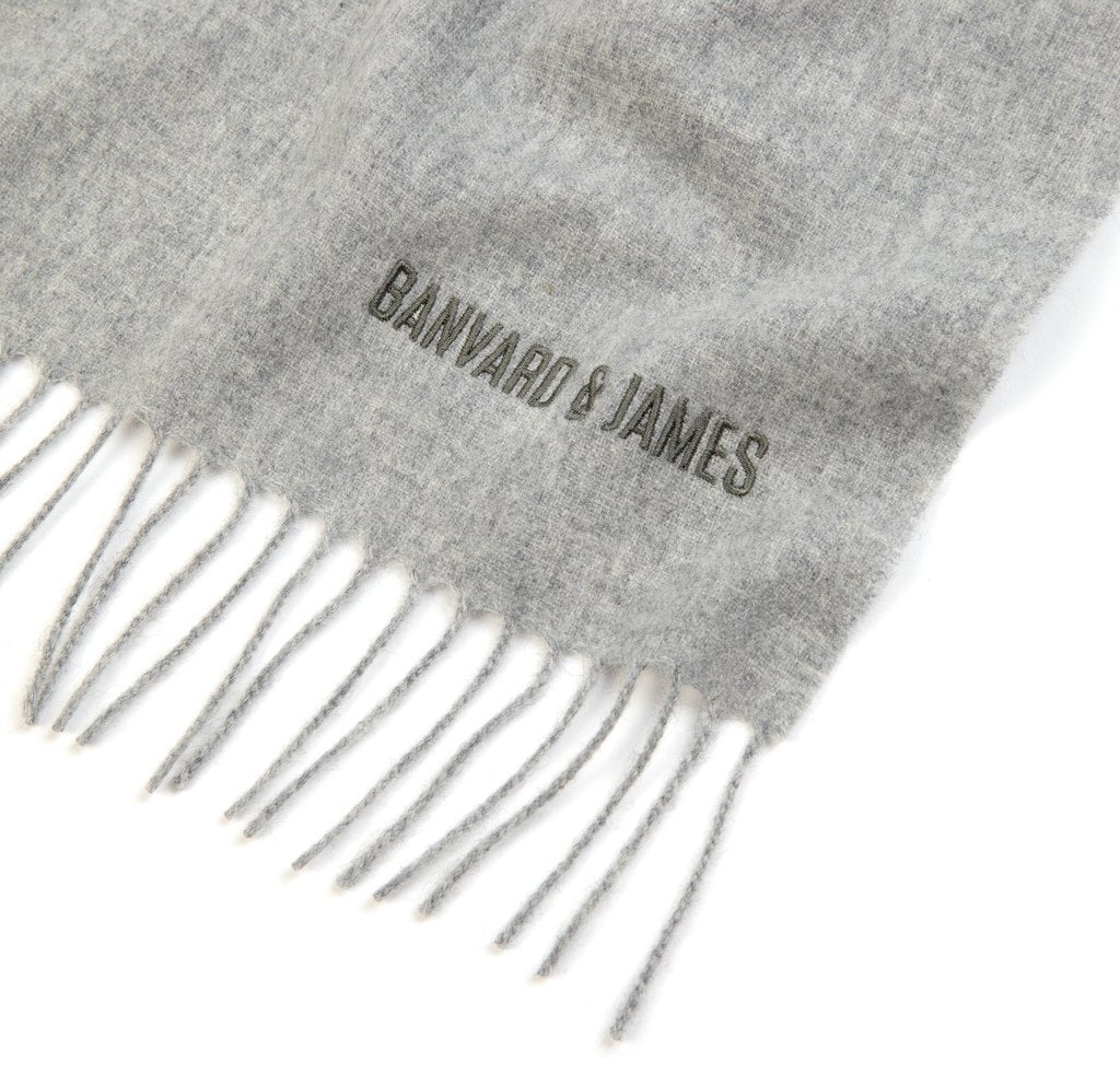 NEW Pale Grey Pure Cashmere Sandford Scarf