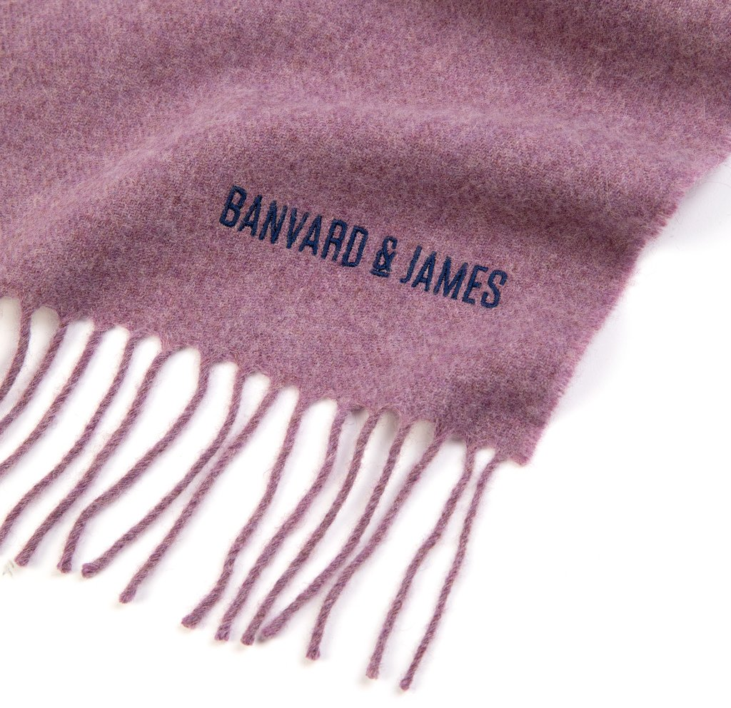 NEW Pale Purple Lambswool Keating Scarf