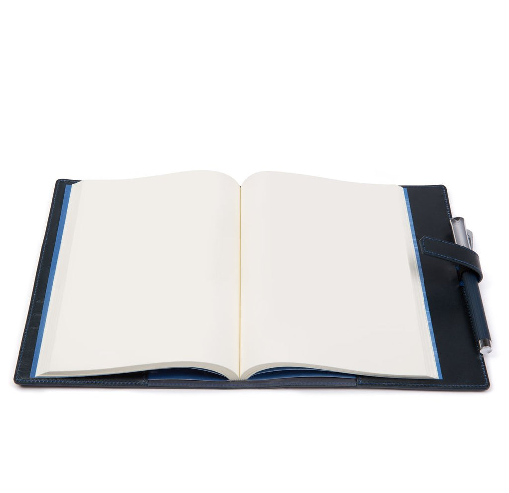 Navy A5 Leather Rapley Journal