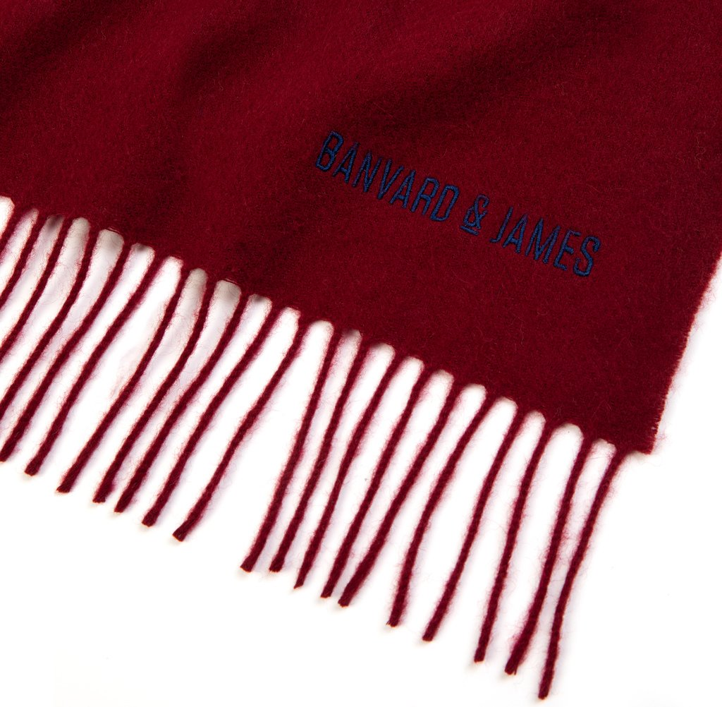 NEW Burgundy Lambswool Keating Scarf