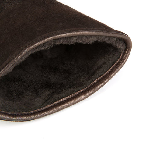 Chocolate Brown Astor Shearling Gloves