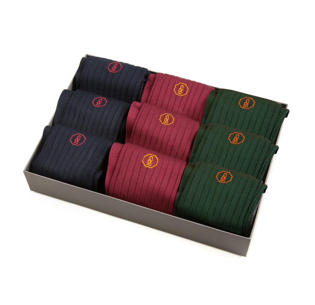 Archer Socks - 9 Pair Gift Set