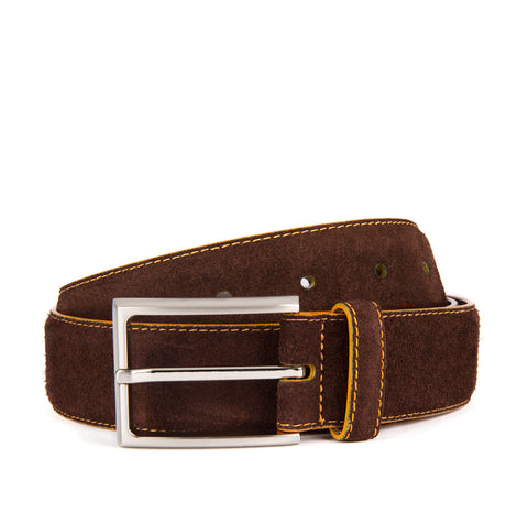 Chocolate Brown Huxley Suede Belt