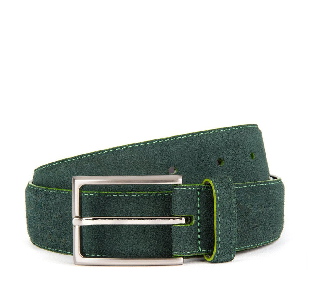 Dark Green Huxley Suede Belt - Banvard & James