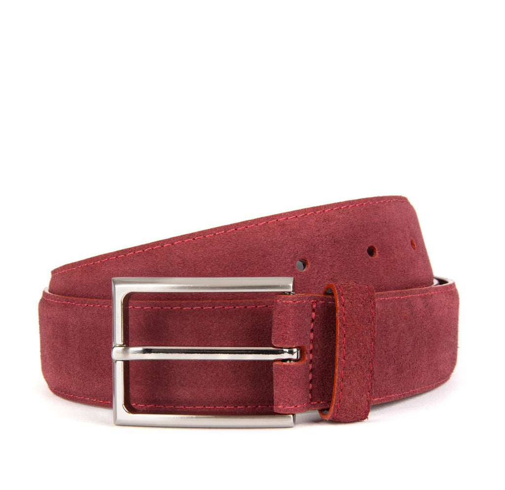 Burgundy Huxley Suede Belt - Banvard & James