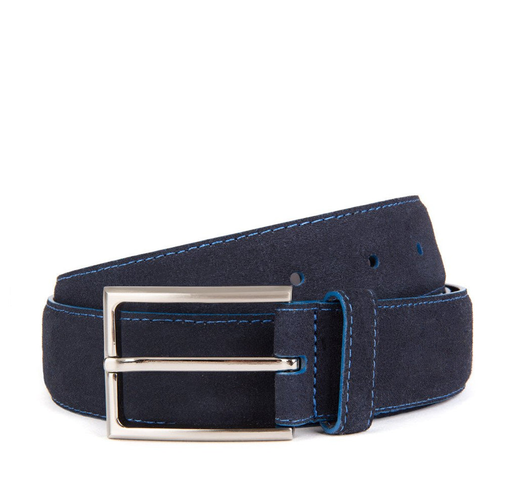 Navy Huxley Suede Belt