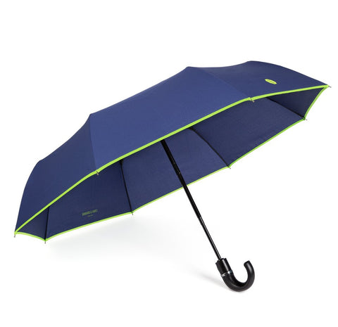 NEW Navy & Lime Roscoe Telescopic Umbrella