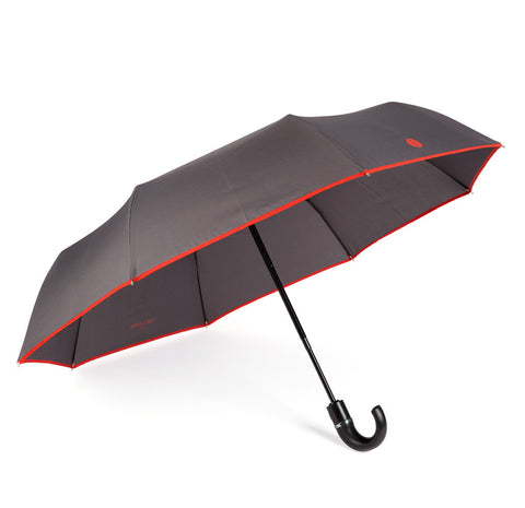 Charcoal & Red Roscoe Telescopic Umbrella