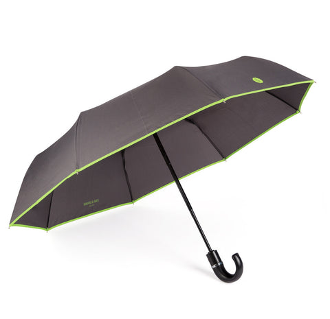 Charcoal & Lime Roscoe Telescopic Umbrella