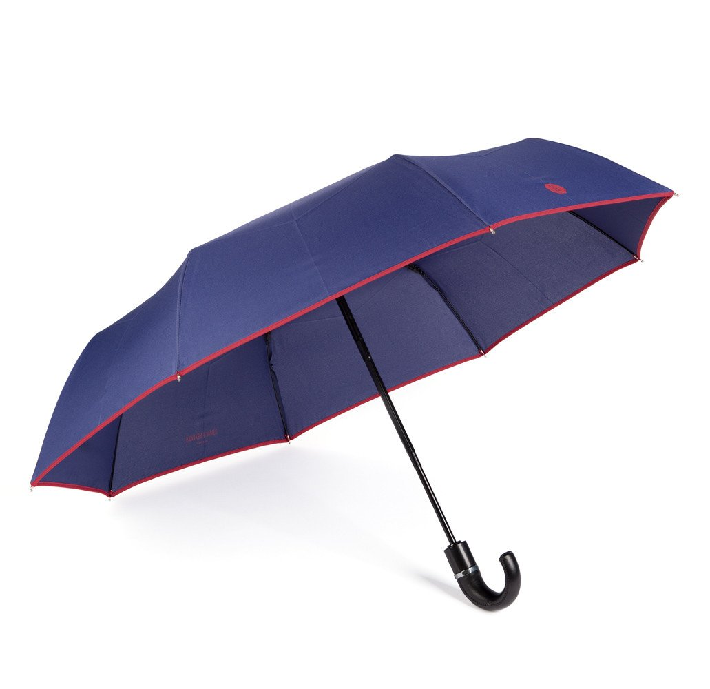 Navy & Berry Roscoe Telescopic Umbrella